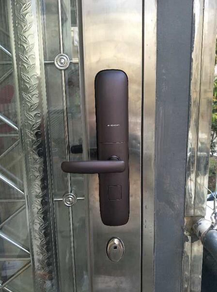 长庆花园,久邦F6自动滑盖智能锁指纹密码锁